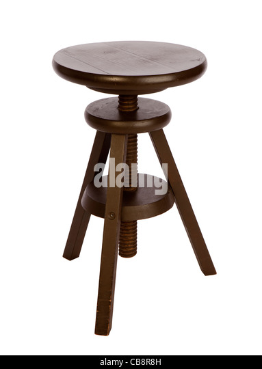 Amazing Furniture, Swedish Designed Adjustable Height Wooden Stool   Stock Image