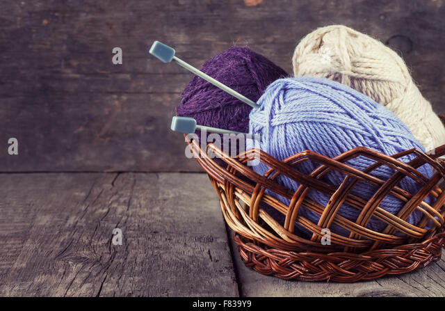 Knitting Basket Yarn : Knitting group stock photos images