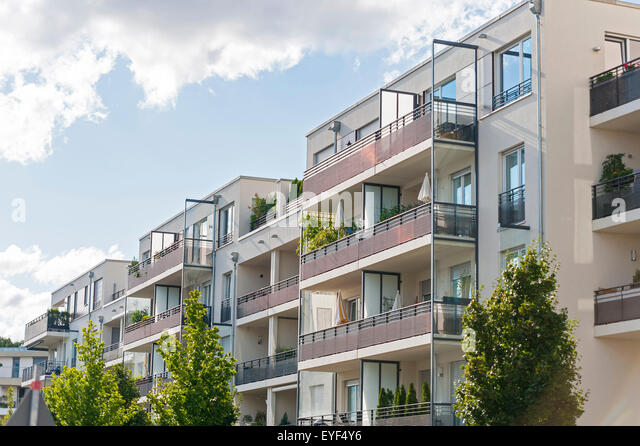 New Apartment Buildings In Munich, Germany   Stock Image