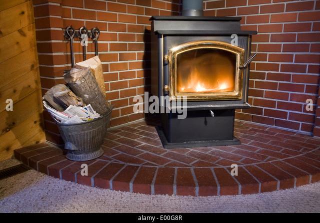 Wood Burning Fireplace Stock Photos Wood Burning Fireplace Stock Images Alamy