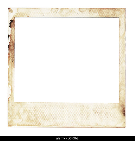 instant photo frame stock image