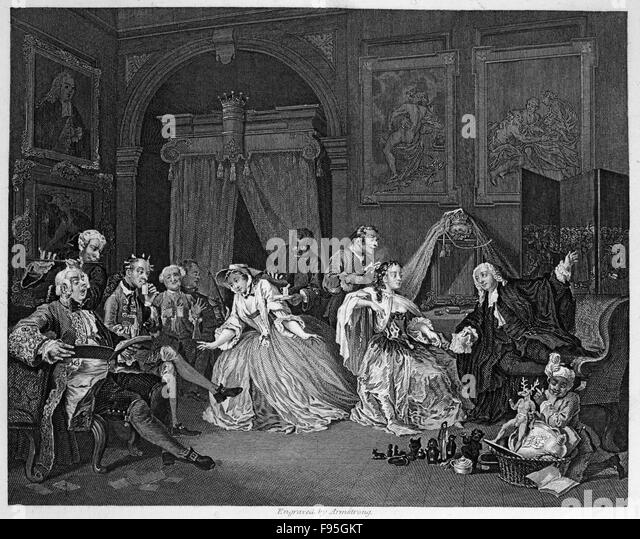 marriage a la mode Art of the print original engraving by william hogarth and simon francois ravenet marriage a la mode plate 4 the domestic life of squanderfield's bride our gallery.