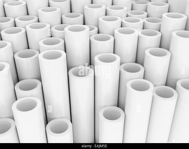 Pvc pipe black and white stock photos images alamy for White plastic water pipe