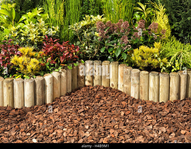 Garden, Patch, Palisade, Plants   Stock Image