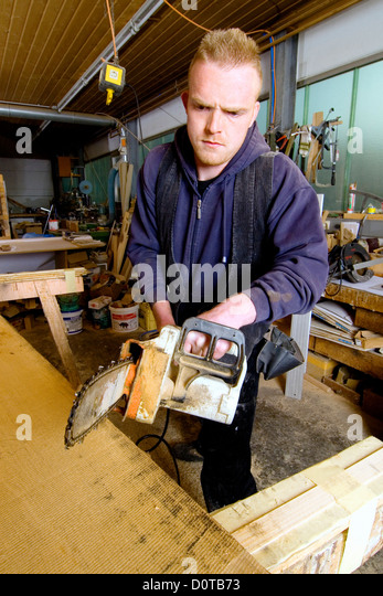 Carpentry Carpenter Woodworker Woodworking Wooden: Chain Saw Stock Photos & Chain Saw Stock Images