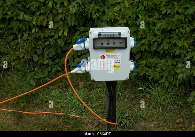C&ing electrical hook up point - Stock Image & Electricity Hook Up Stock Photos u0026 Electricity Hook Up Stock ...