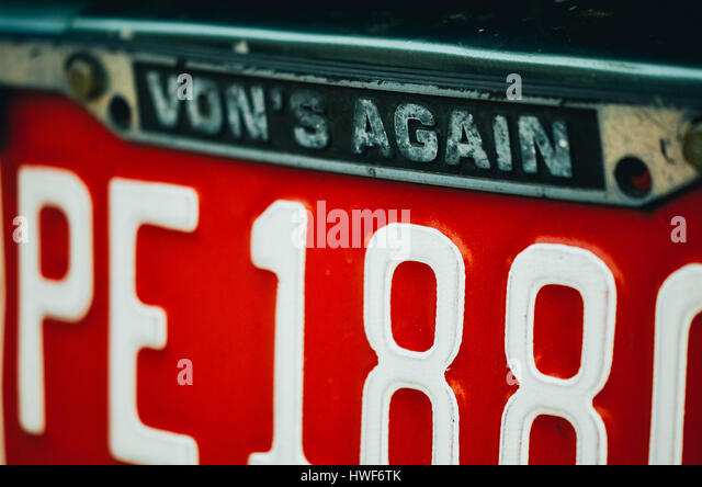 License Number Plate Stock Photos Amp License Number Plate Stock Images Alamy