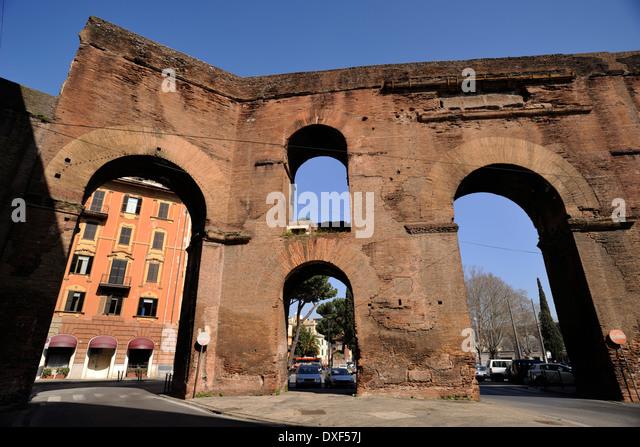 Roman aqueducts stock photos roman aqueducts stock - Rome porta maggiore ...