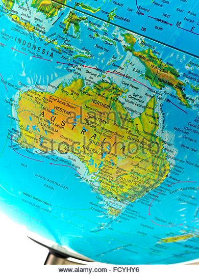 Southern hemisphere map stock photos southern hemisphere map world globe metal and opaque close up on the southern hemisphere and australia gumiabroncs Gallery