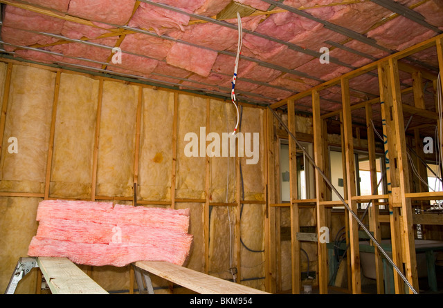Fiberglass insulation stock photos fiberglass insulation for New home insulation