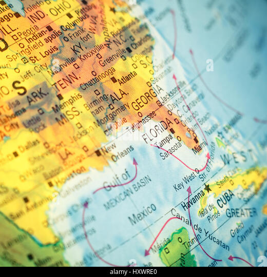 Eastern United States Map Stock Photos Eastern United States Map - East united states map