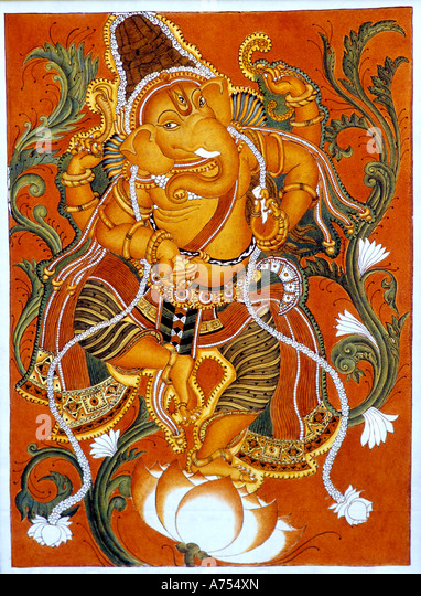 Ganesh mural stock photos ganesh mural stock images alamy for Mural art of ganesha