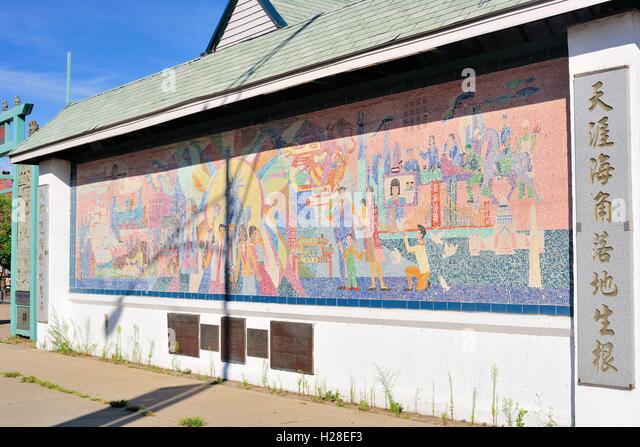 Ethnic neighborhoods stock photos ethnic neighborhoods for Chinatown mural chicago