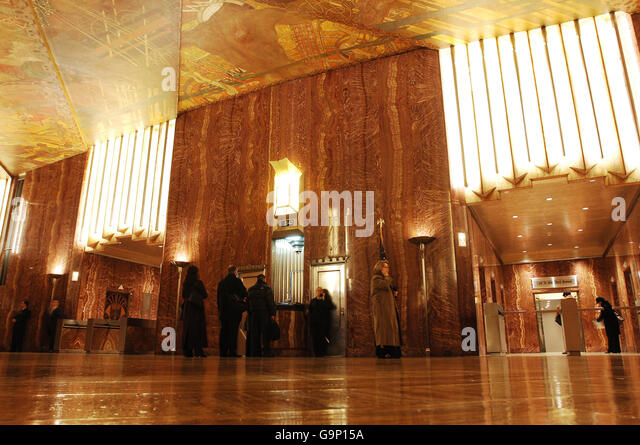 Chrysler building lobby stock photos chrysler building for Chrysler building lobby mural