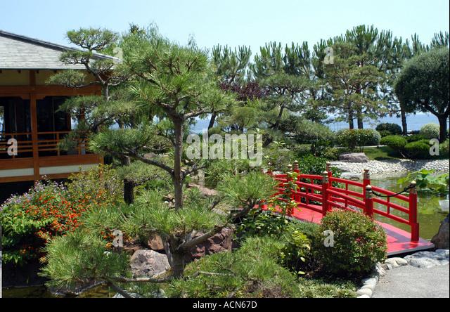 Japanese garden monte carlo monaco stock photos japanese for Formal japanese garden