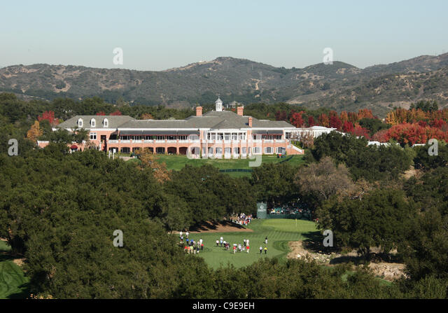 18TH HOLE & CLUBHOUSE SHERWOOD COUNTRY CLUB THOUSAND OAKS CALIFORNIA ...