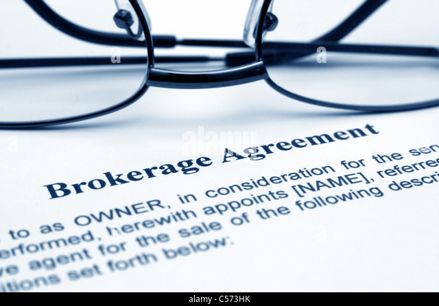 Agreement with broker