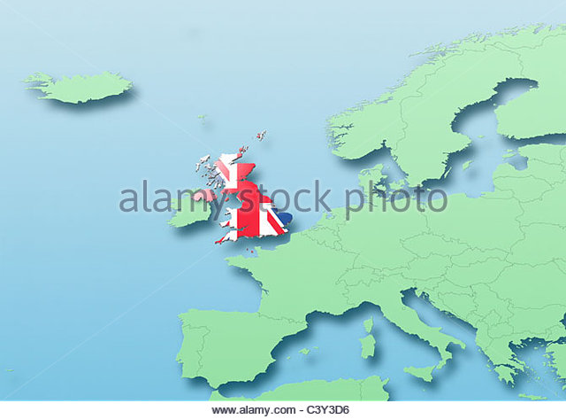Britain Map Flag Stock Photos Britain Map Flag Stock Images Alamy - Britain on a map