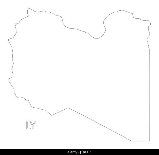 Libya Map Black And White Stock Photos Images Alamy - Libya blank map