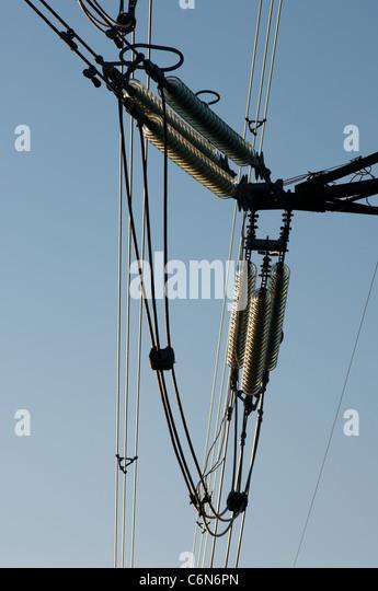 Insulator stock photos insulator stock images alamy for Glass power line insulators
