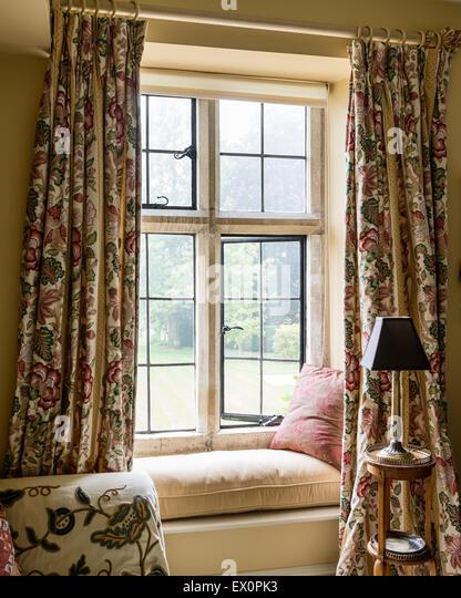 Original manor house stock photos original manor house for Window seat curtains