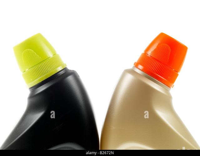 Plastic Bleach Bottles Stock Photos
