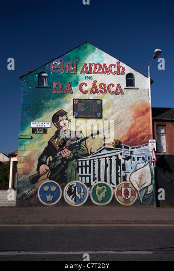 West belfast murals stock photos west belfast murals for Easter rising mural