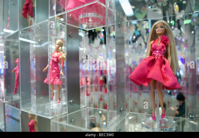 Hundreds of barbie dolls are on display in the worlds largest barbie store the flagship