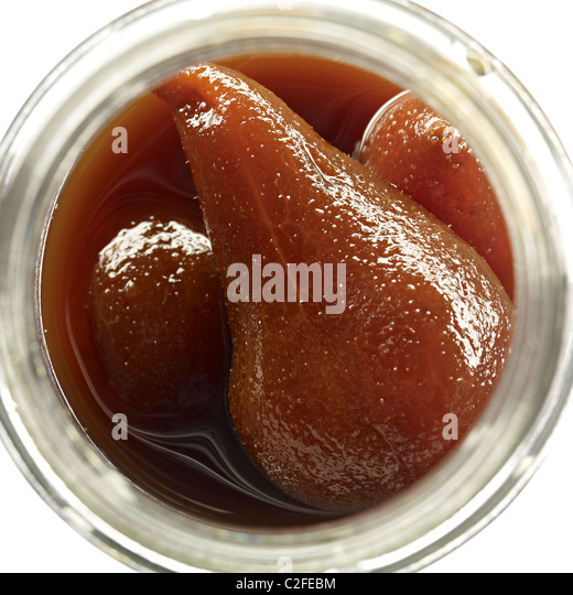 pickles preserved pears - Stock Image