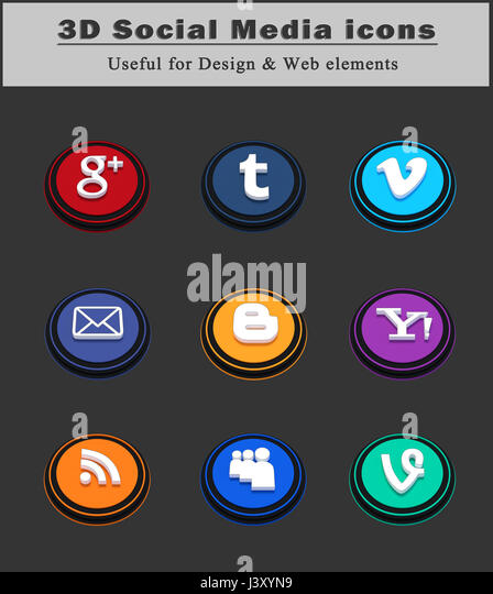 Social Networks Icons Stock Photos & Social Networks Icons ...