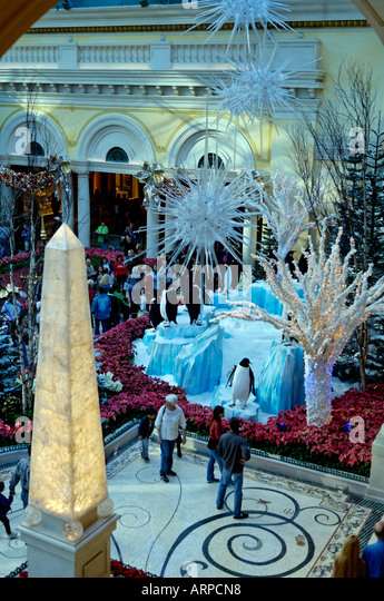 Christmas decorations hotel bellagio in stock photos for When does las vegas decorate for christmas