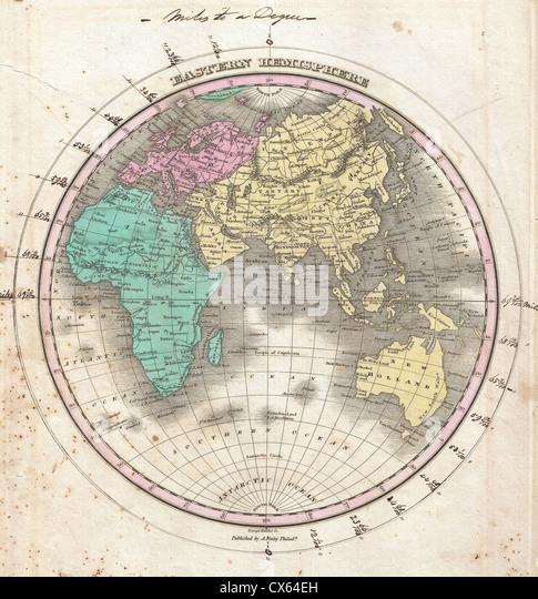 1827 finley map of the eastern hemisphere asia australia europe africa