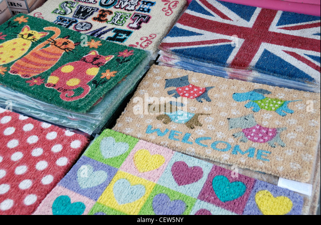 Various doormats displayed outside a shop - Stock Image & Doormats Stock Photos \u0026 Doormats Stock Images - Alamy Pezcame.Com