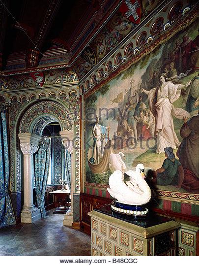 Neuschwanstein castle interior stock photos for Fussen design hotel