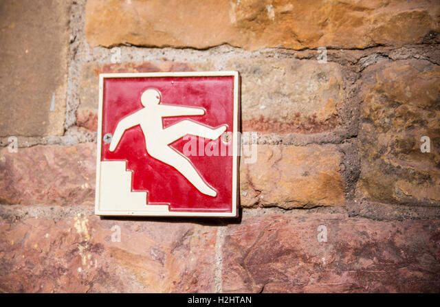 haircut in denver careful fall stock photos amp careful fall stock images alamy 5562 | be careful on the stairs warning sign h2htan