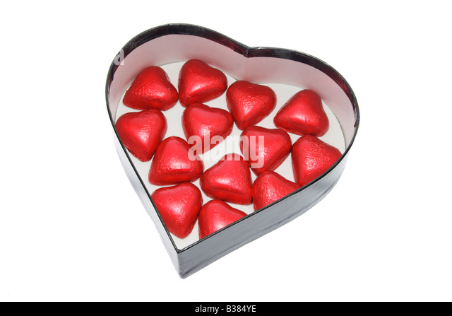 Chocolate Heart Shaped Gift Boxes : The chocolate box stock photos