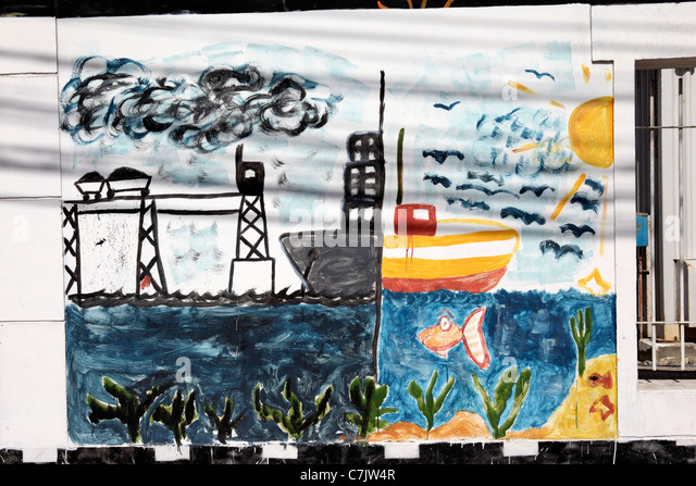 Pollution water chile stock photos pollution water chile for Caldera mural bosch