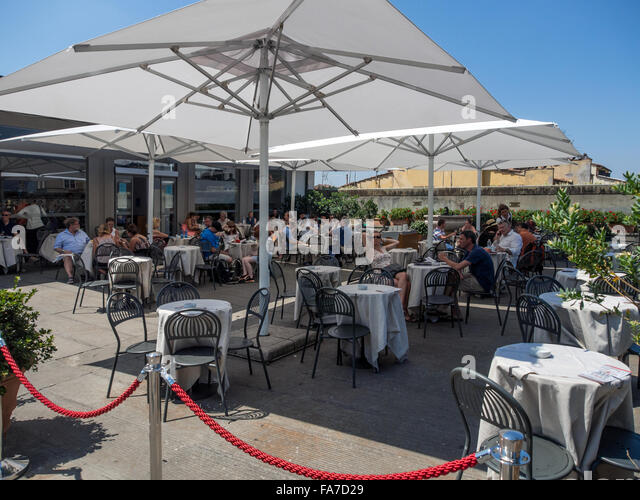 Florence italy restaurant stock photos florence italy for 211 roof terrace cafe