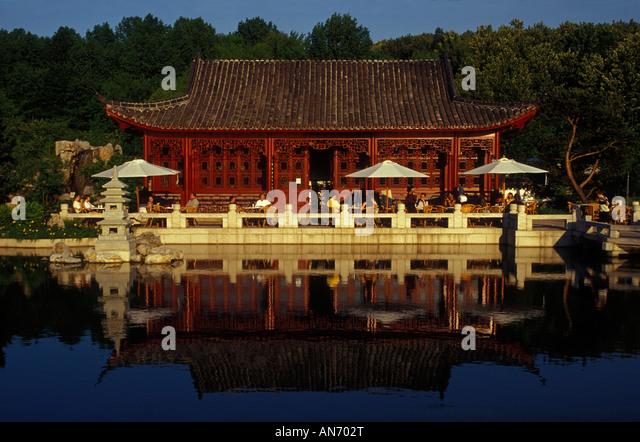 berlin chinesischer garten chinese garden stock photos. Black Bedroom Furniture Sets. Home Design Ideas