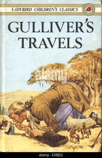 Gulliver S Travels Book Cover Drawing : Gullivers travels book stock photos