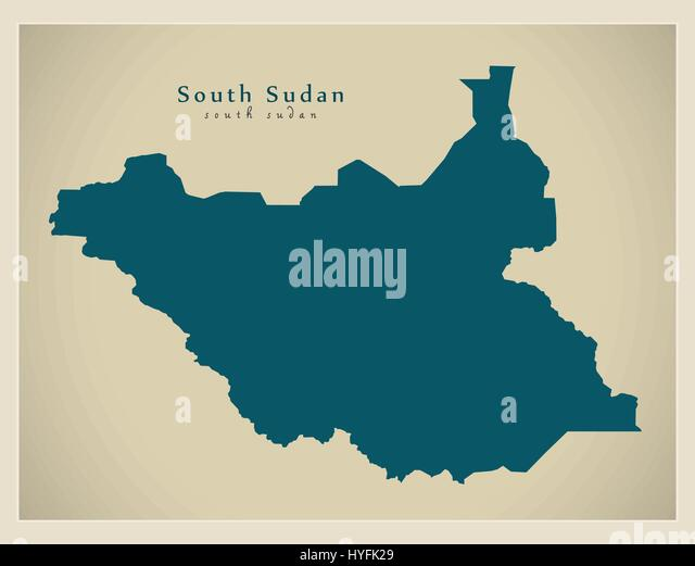 South sudan map stock photos south sudan map stock images alamy modern map south sudan ss stock image gumiabroncs Gallery
