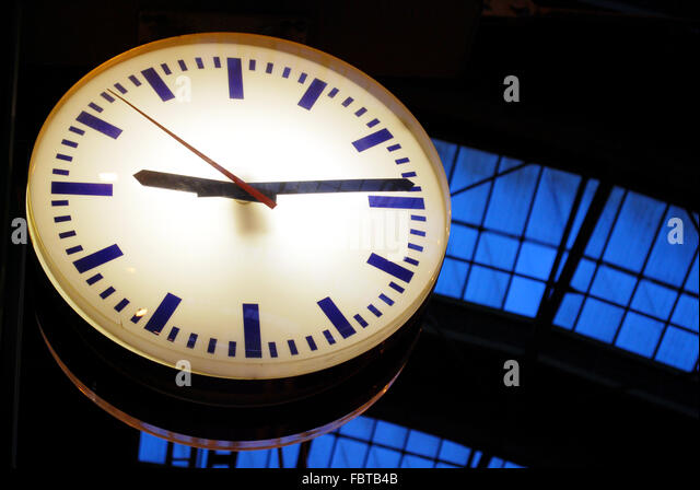 railways clock stock photos railways clock stock images. Black Bedroom Furniture Sets. Home Design Ideas
