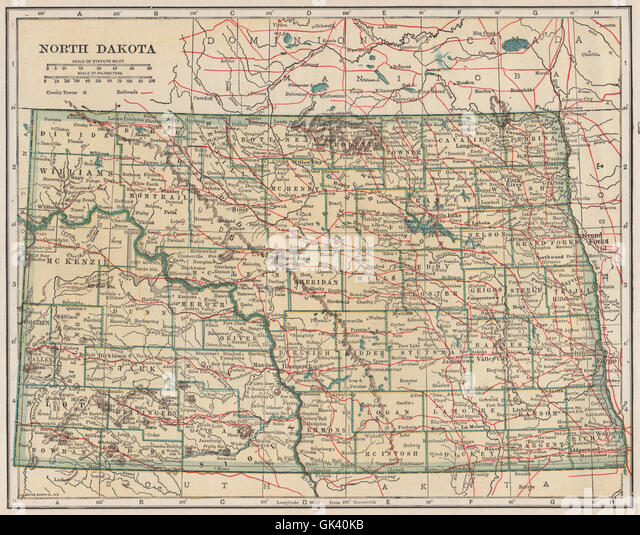 North Dakota Map Stock Photos North Dakota Map Stock Images Alamy - North dakota state map