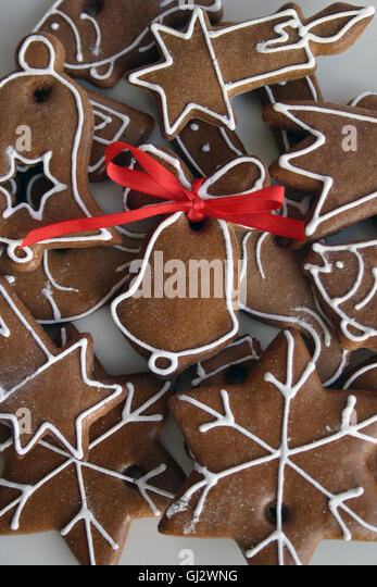 Christmas Biscuits Ribbon Stock Photos Amp Christmas
