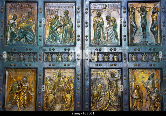 As you go in at the pilgrim\u0027s-eye level there are images of forgiveness the woman who washed Jesus\u0027 feet with her tears Jesus telling Peter he must ... & Rating the four Holy Doors of Rome in the Jubilee Year of Mercy