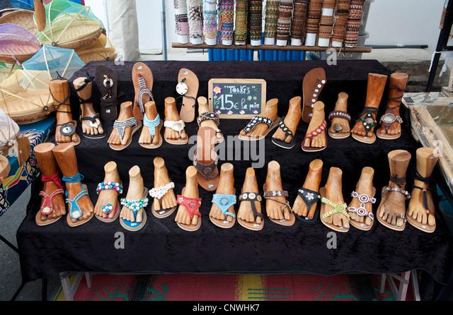sandals flip flops market stock photos sandals flip. Black Bedroom Furniture Sets. Home Design Ideas