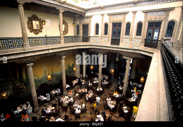 Interior architecture restaurant colonial stock photos for House of tiles mexico city