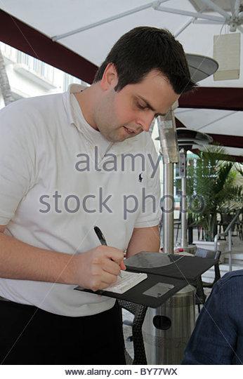 Waiter Taking Order From Man Stock Photos Waiter Taking