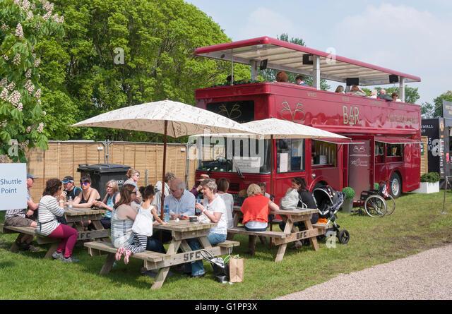 Vintage Bus Bar At Royal Windsor Horse Show Home Park Berkshire