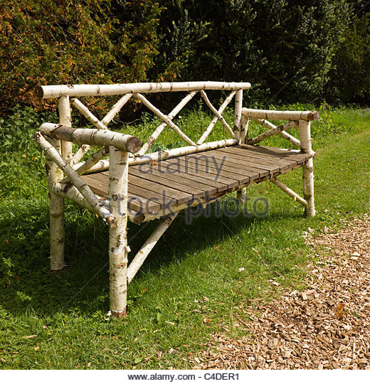 Rustic Garden Seat Log Stock Rustic Garden Seat Log Stock
